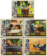 """Attack of the 50 Foot Woman (Allied Artists, 1958). Lobby Cards (5) (11"""" X 14""""). ... (Total: 5 Items)"""