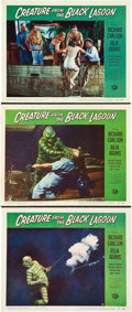 "Movie Posters:Horror, Creature from the Black Lagoon (Universal International, 1954).Lobby Cards (3) (11"" X 14"").. ... (Total: 3 Items)"