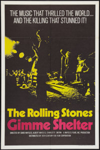 "Gimme Shelter (20th Century Fox, 1970). One Sheet (27"" X 41""). Rock and Roll"