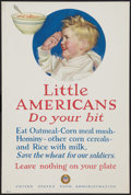 "Movie Posters:War, World War I Propaganda Poster (U.S. Food Administration, 1917).World War I Poster No. 21 (14"" X 21"") ""Little American...Do ..."