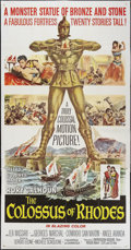"""Movie Posters:Adventure, The Colossus of Rhodes (MGM, 1961). Three Sheet (41"""" X 81"""").Adventure.. ..."""