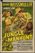 "Movie Posters:Adventure, Jungle Manhunt (Columbia, 1951). One Sheet (27"" X 40.5"").Adventure.. ..."