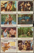 "Movie Posters:Adventure, Tarzan and the Lost Safari (MGM, 1957). Lobby Card Set of 8 (11"" X14""). Adventure.. ... (Total: 8 Items)"
