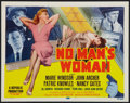 "Movie Posters:Mystery, No Man's Woman (Republic, 1955). Title Lobby Card (11"" X 14"").Mystery.. ..."