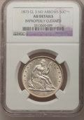 Seated Half Dollars: , 1873 50C Closed 3, No Arrows--Improperly Cleaned--NGC Details. AUDetails. NGC Census: (1/42). PCGS Population (5/44). Mint...