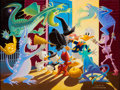 Original Comic Art:Paintings, Carl Barks Halloween in Duckburg Oil Painting Original Art (1973)....