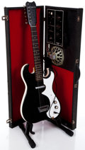 Musical Instruments:Electric Guitars, 1960's Silvertone 1448 Black Electric Guitar & Amplifier Case#185.10010...