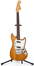 Musical Instruments:Electric Guitars, 1966 Fender Mustang Natural Solid Body Electric Guitar, #132898....