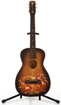 Musical Instruments:Acoustic Guitars, 1940's Melody Ranch By Harmony H610 Gene Autry Sunburst Acoustic Guitar #1505H610....