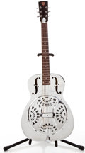 Musical Instruments:Resonator Guitars, Modern Dobro OMI Model Chrome Plated Resonator Guitar #C978394B....