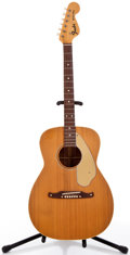 Musical Instruments:Acoustic Guitars, Late 1960's Fender Malibu Natural Acoustic Guitar #18590....
