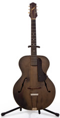 Musical Instruments:Acoustic Guitars, 1940's Gretsch No. 30 Refinished Archtop Acoustic Guitar #N/A....