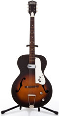 Musical Instruments:Electric Guitars, Vintage Truetone Single Pickup Sunburst Archtop Electric Guitar#N/A....