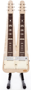 Musical Instruments:Lap Steel Guitars, Vintage Supro Twin Pearloid Lap Steel Guitar #X34099....