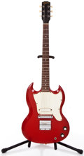 Musical Instruments:Electric Guitars, 1967 Gibson Melody Maker Red Solid Body Electric Guitar #004535....