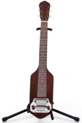 Musical Instruments:Lap Steel Guitars, Vintage Manoloff Wood Body Cherry Lap Steel Guitar #N/A....