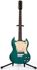 Musical Instruments:Electric Guitars, 1967 Gibson Melody Maker II Green Solid Body Electric Guitar #570568...