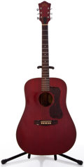 Musical Instruments:Acoustic Guitars, 1972 Guild D25 Cherry Acoustic Guitar #71844....