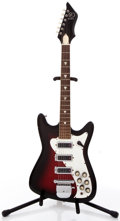 Musical Instruments:Electric Guitars, Vintage Kay 592 Redburst Solid Body Electric Guitar #N/A....