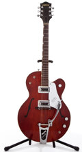 Musical Instruments:Electric Guitars, Circa 1962 Gretsch Tennessean Burgundy Semi-Hollow Body ElectricGuitar #45739....