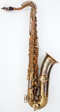 Musical Instruments:Horns & Wind Instruments, Vintage Buescher True-Tone Low Pitch Brass Tenor Saxophone #212942....