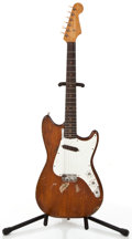 Musical Instruments:Electric Guitars, Vintage Fender Musicmaster Project Brown Stain Solid Body ElectricGuitar #N/A....