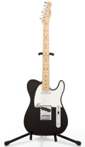 Musical Instruments:Electric Guitars, 2005 Fender Telecaster Black Solid Body Electric Guitar,#Z5015828....