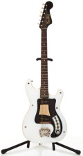 Musical Instruments:Electric Guitars, 1960's Hagstrom White Solid Body Electric Guitar #667572....
