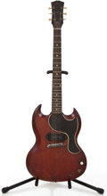 Musical Instruments:Electric Guitars, Vintage Gibson Les Paul SG Junior Cherry Solid Body Electric Guitar#N/A....