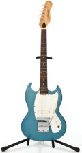 Musical Instruments:Electric Guitars, 1960's Kalamazoo U.S.A. SG Copy Blue Solid Body Electric Guitar#005585....