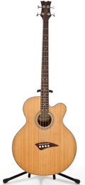Musical Instruments:Bass Guitars, 2007 Dean PLAYEABC Natural 4-String Acoustic Electric Bass Guitar#YC07090230...