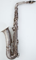 Musical Instruments:Horns & Wind Instruments, 1930's Conn Silver Alto Saxophone #118104....