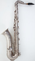 Musical Instruments:Horns & Wind Instruments, Vintage King White 1.549.911 Silver Tenor Saxophone #95155....