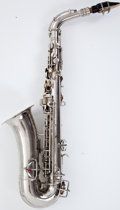 Musical Instruments:Horns & Wind Instruments, Vintage Conn Silver Alto Saxophone #132595....