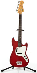 Musical Instruments:Electric Guitars, 1974 Fender Musicmaster Red Electric Bass Guitar #647773....