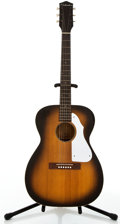 Musical Instruments:Acoustic Guitars, 1960's Silvertone H617 Sunburst Acoustic Guitar #800H617....