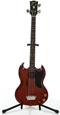 Musical Instruments:Electric Guitars, 1960's Gibson EB-3 Cherry Electric Bass Guitar #14319....