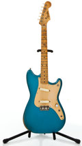 Musical Instruments:Electric Guitars, 1958 Fender Duo-Sonic Blue Solid Body Electric Guitar #34938....