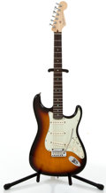 Musical Instruments:Electric Guitars, 2005 Fender Stratocaster Sunburst Solid Body Electric Guitar#DZ5081040....