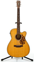 Musical Instruments:Acoustic Guitars, Blueridge BR-143CE Natural Acoustic Electric Guitar #06090182....
