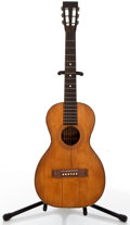 Musical Instruments:Acoustic Guitars, Circa 1900 Washburn Parlor Natural Acoustic Project Guitar.#288543....