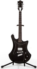 Musical Instruments:Electric Guitars, 1977 Guild S-60 Black Solid Body Electric Guitar #159607....