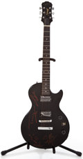 Musical Instruments:Electric Guitars, 2000 Epiphone Special II Black Solid Body Electric Guitar,#IS00070029....