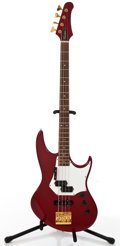 Musical Instruments:Bass Guitars, 1980's Hamer Cruisebass Red Electric Bass Guitar, #N/A....