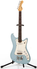 Musical Instruments:Electric Guitars, 1960's VOX Hurricane Sky Blue Solid Body Electric Guitar,#224534....