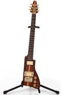 Musical Instruments:Electric Guitars, 1980's Kay Austin Hatchet Natural Solid Body Electric Guitar,#N/A....