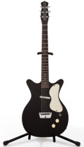 Musical Instruments:Electric Guitars, Danelectro Standard Black Solid Body Electric Guitar #N/A....