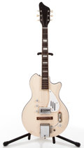 Musical Instruments:Electric Guitars, Vintage Supro Belmont White Solid Body Electric Guitar #G38773....