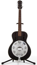 Musical Instruments:Resonator Guitars, 1997 Epiphone The Biscuit Black Resonator Guitar, #9712009....