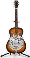 Musical Instruments:Resonator Guitars, 1995 Regal Sunburst Resonator Guitar, #9502014....